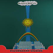 Carnival Ride Rainbow 3d model
