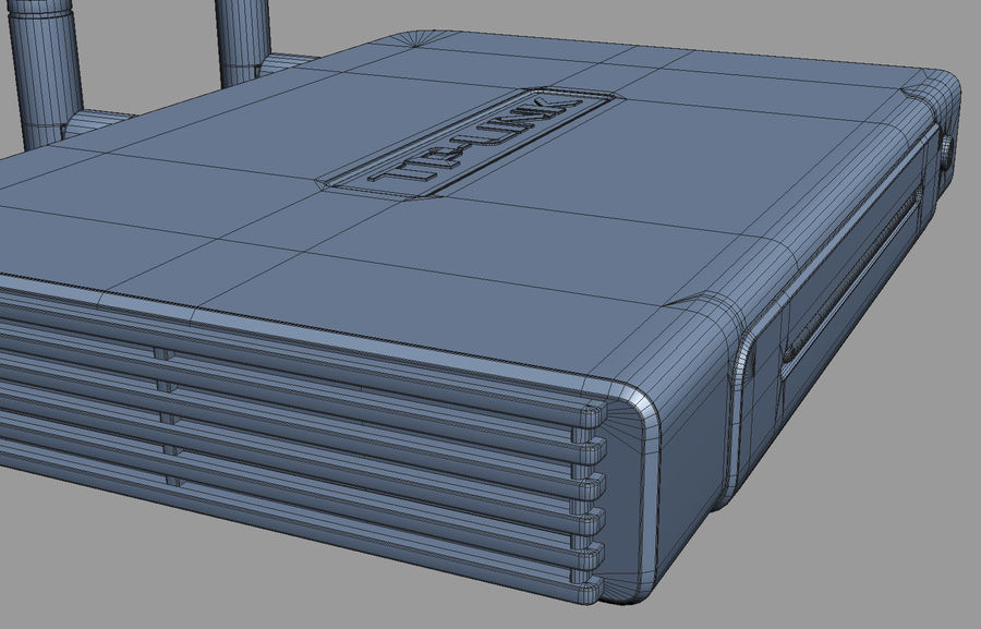 Roteador TP-Link TL-WR940N royalty-free 3d model - Preview no. 12
