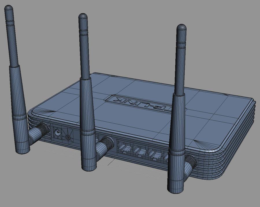 Roteador TP-Link TL-WR940N royalty-free 3d model - Preview no. 10