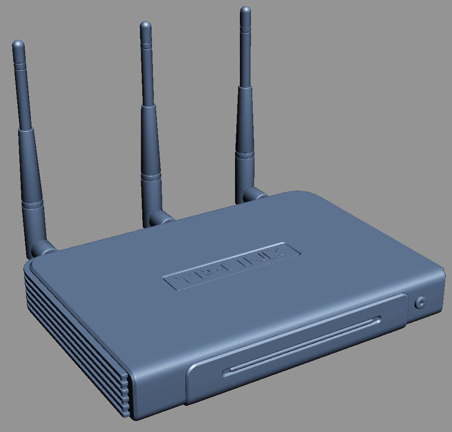 Roteador TP-Link TL-WR940N royalty-free 3d model - Preview no. 7
