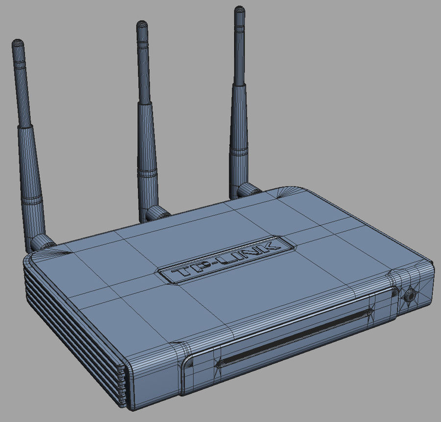 Roteador TP-Link TL-WR940N royalty-free 3d model - Preview no. 8