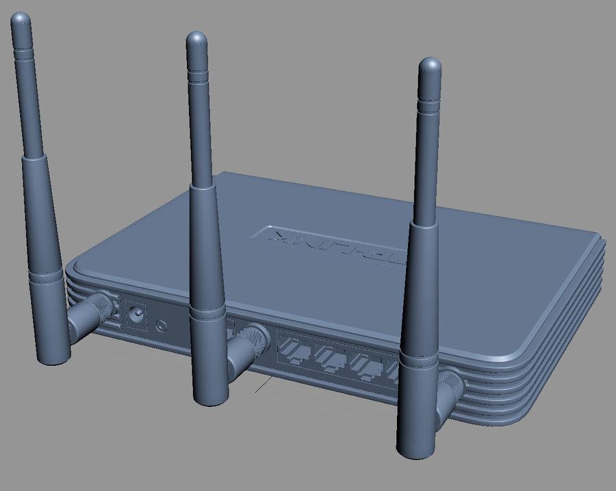 Roteador TP-Link TL-WR940N royalty-free 3d model - Preview no. 9