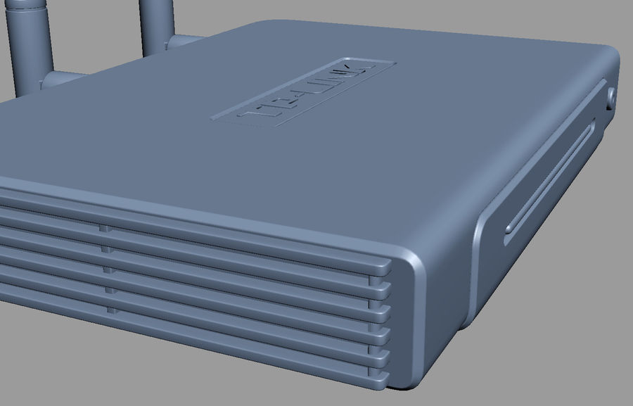 Roteador TP-Link TL-WR940N royalty-free 3d model - Preview no. 11