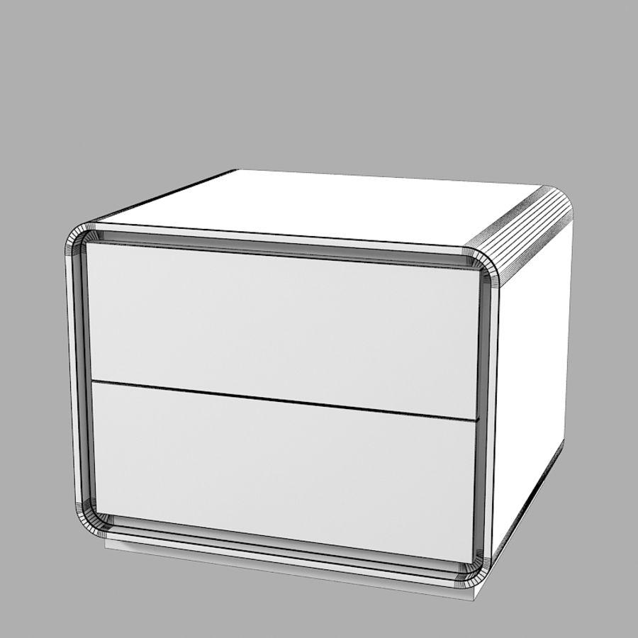 Veneran Groe slaapkamer nachtkastje royalty-free 3d model - Preview no. 5