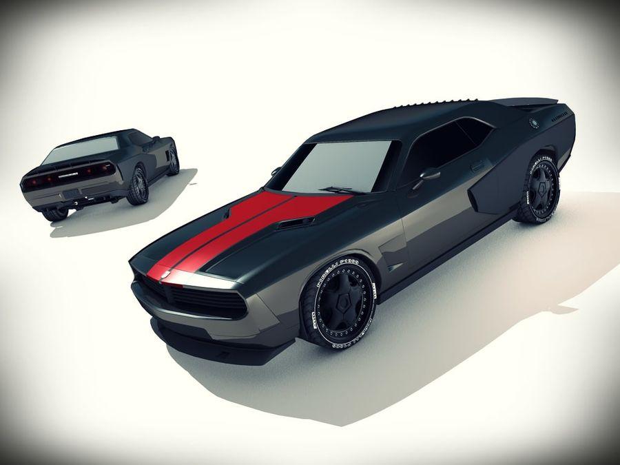 Dodge challenger SRT8 - modificado royalty-free modelo 3d - Preview no. 1