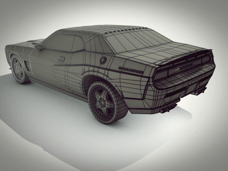 Dodge challenger SRT8 - modificado royalty-free modelo 3d - Preview no. 5