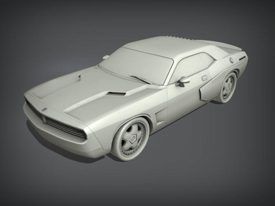 Dodge challenger SRT8 - modificado royalty-free modelo 3d - Preview no. 8