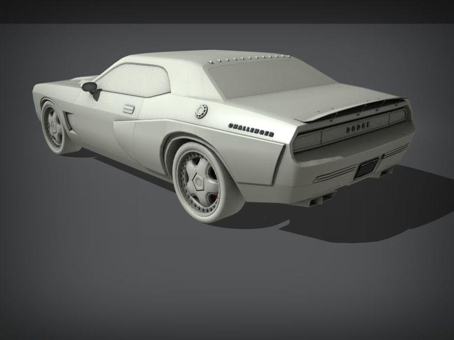 Dodge challenger SRT8 - modificado royalty-free modelo 3d - Preview no. 7
