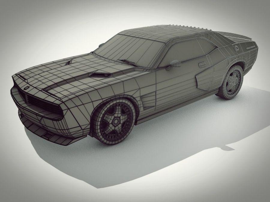 Dodge challenger SRT8 - modificado royalty-free modelo 3d - Preview no. 6