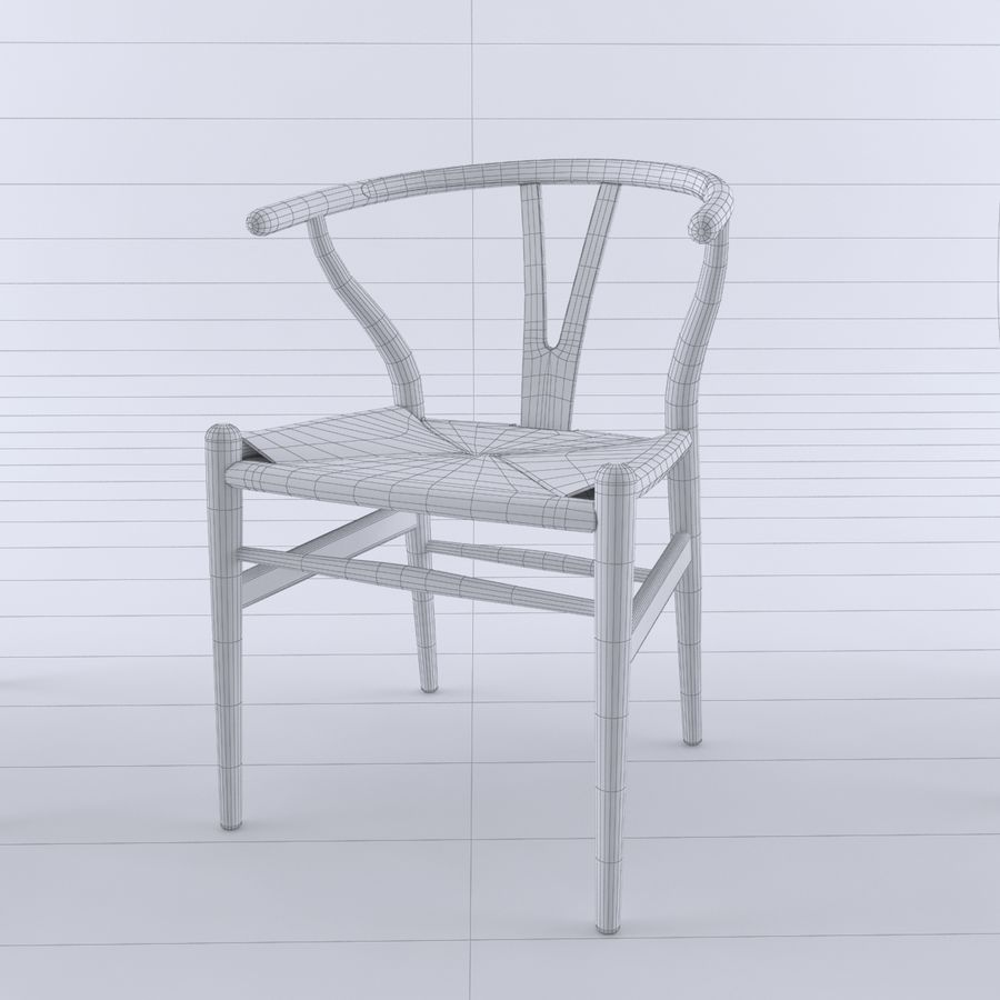 Wishbone-stol royalty-free 3d model - Preview no. 5