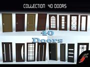 40 kapı ayarla 3d model