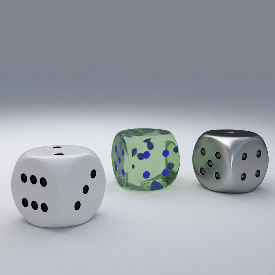 dice royalty-free 3d model - Preview no. 2