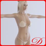 Chica rubia modelo 3d