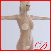 Jeune fille blonde 3d model