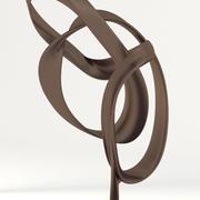 Abstract Bronze Sculpture 3d model