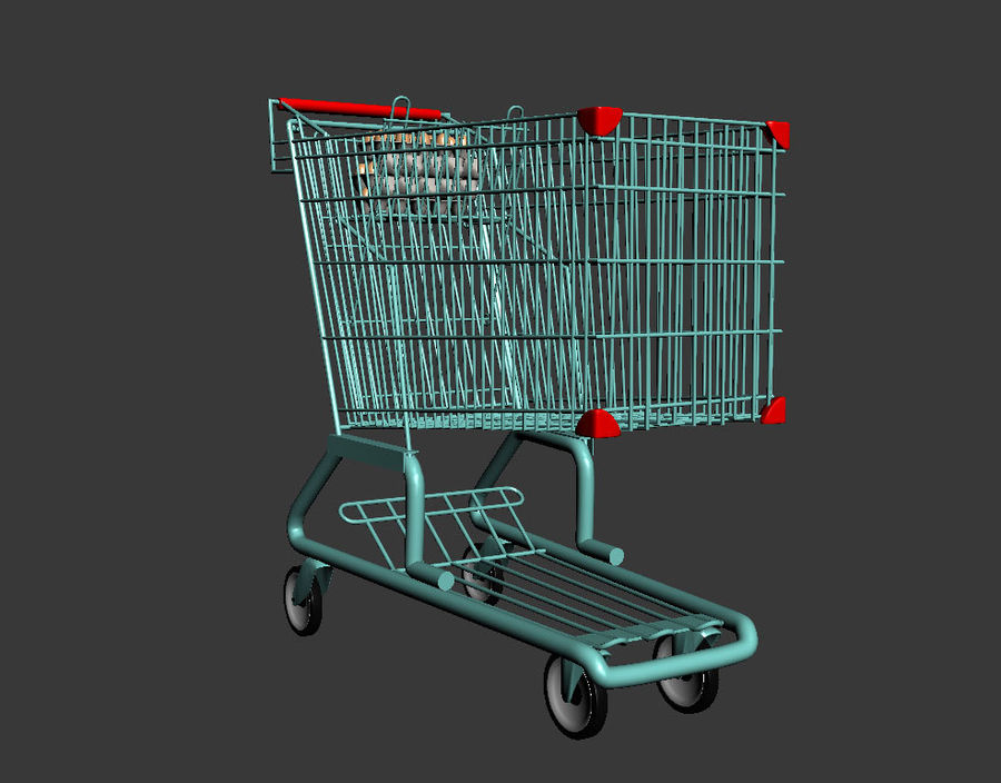 Koszyk w supermarkecie royalty-free 3d model - Preview no. 3