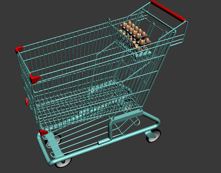 Koszyk w supermarkecie royalty-free 3d model - Preview no. 5