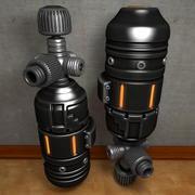 ガス容器ボトルシリンダーバイオハザード 3d model