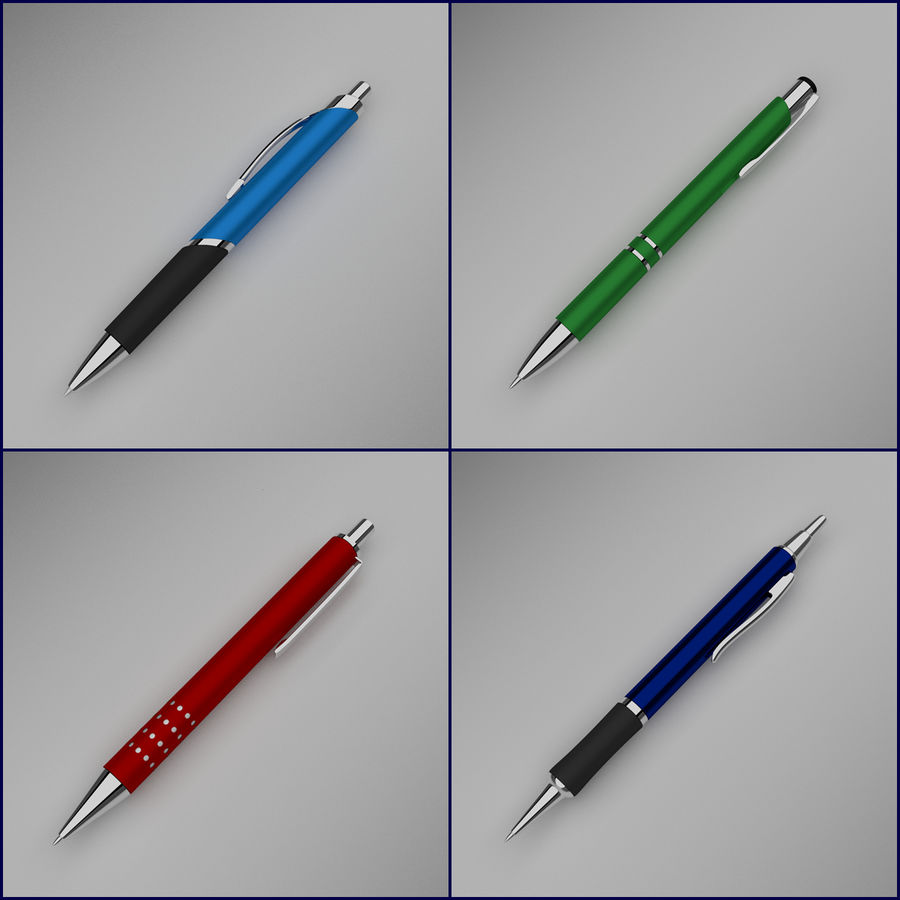Pens Collection royalty-free 3d model - Preview no. 1
