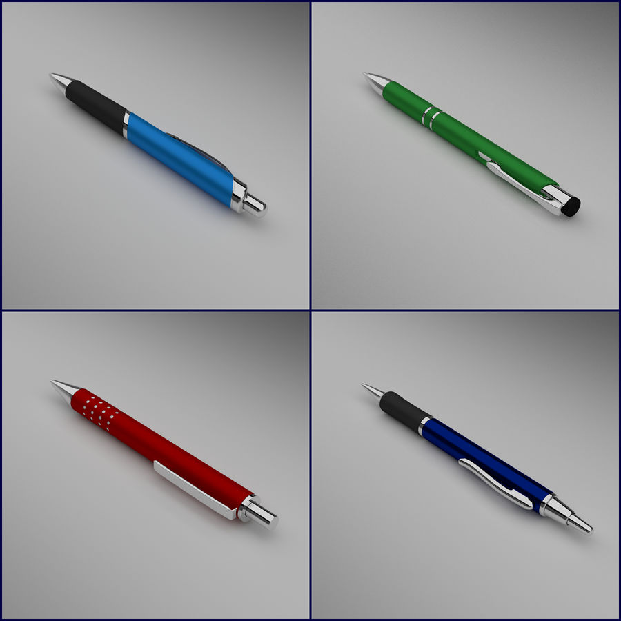Pens Collection royalty-free 3d model - Preview no. 3