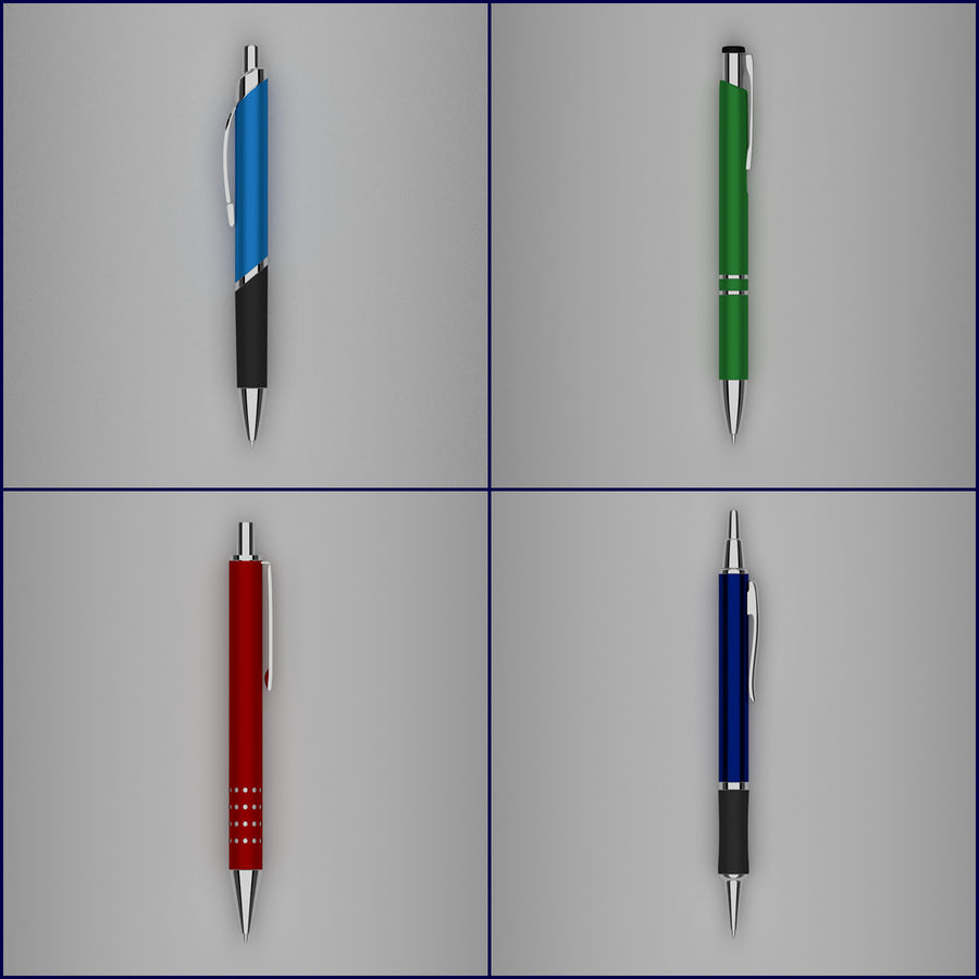 Pens Collection royalty-free 3d model - Preview no. 4