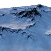 雪の多い地形 3d model