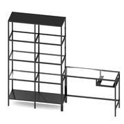 IKEA VITTSJO Shelving unit with laptop table set 2 3d model