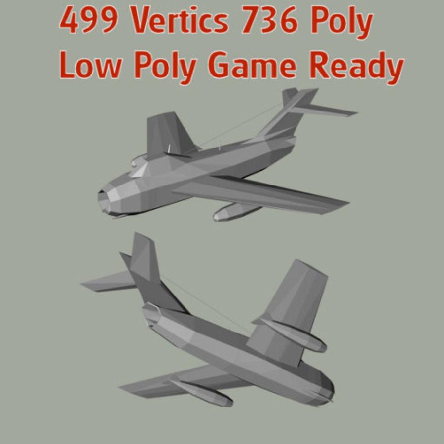 MiG-15 Fagot royalty-free 3d model - Preview no. 5