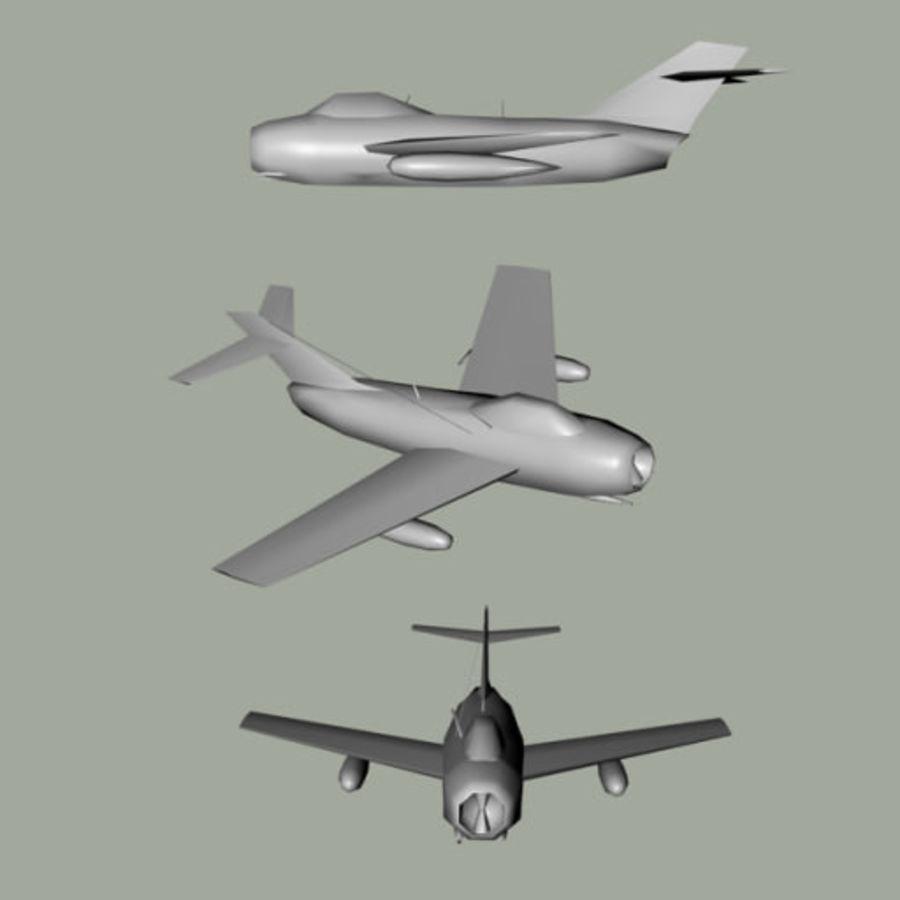 MiG-15 Fagot royalty-free 3d model - Preview no. 4