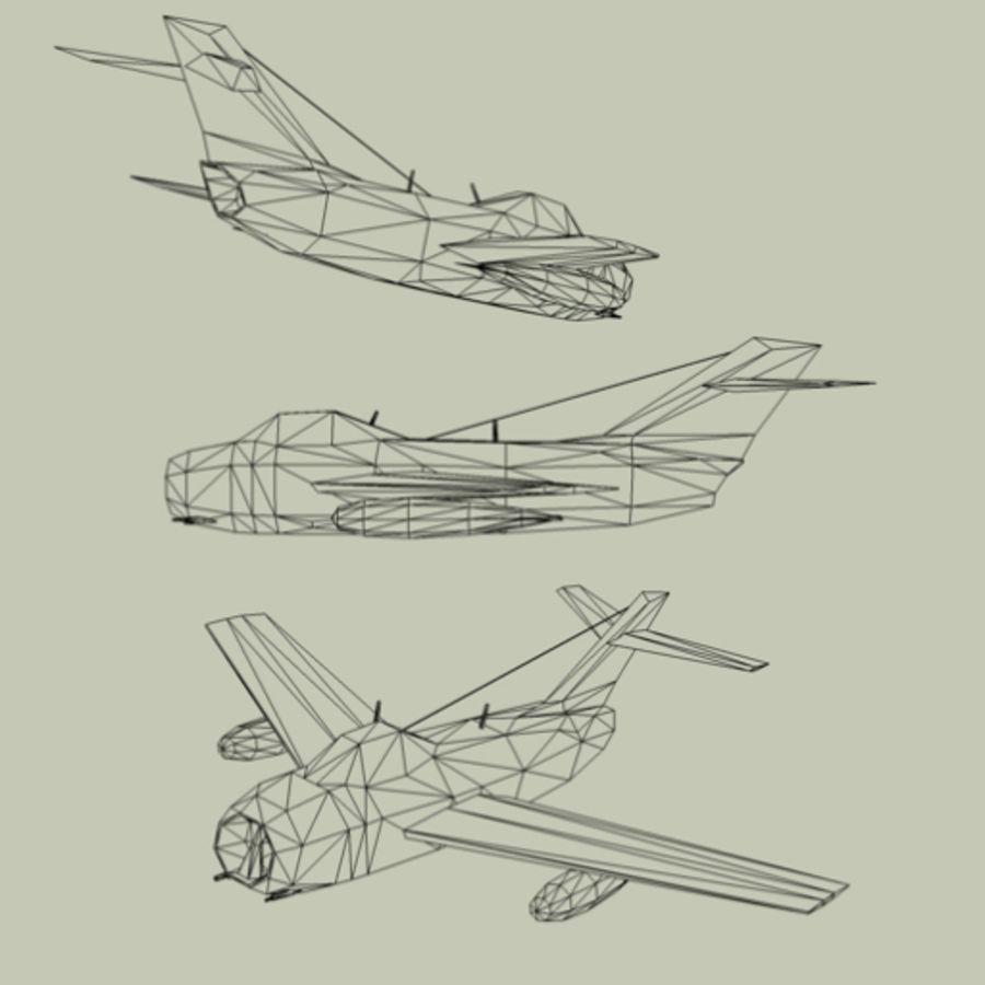 MiG-15 Fagot royalty-free 3d model - Preview no. 3