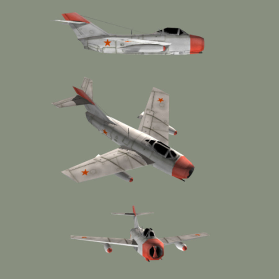 MiG-15 Fagot royalty-free 3d model - Preview no. 1
