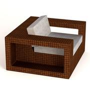 sedia da giardino f1 3d model