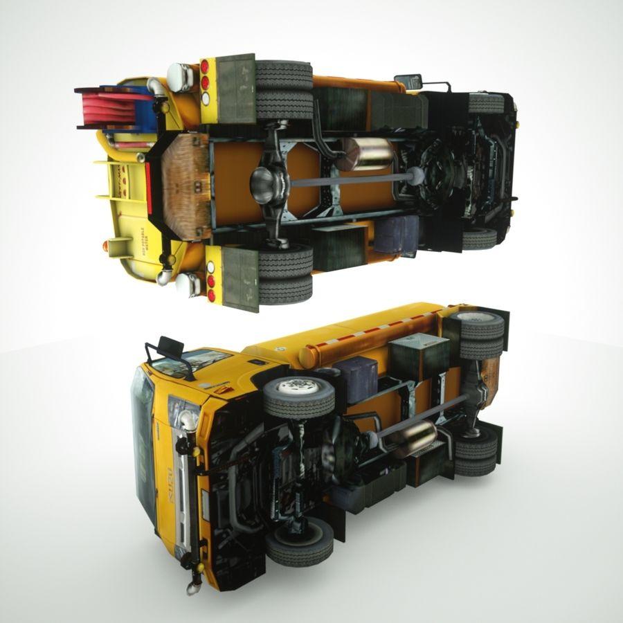 Isuzu NPR Wassertanker royalty-free 3d model - Preview no. 9