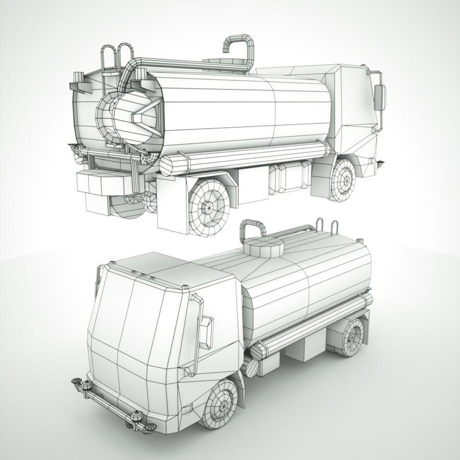 Autocisterna per acqua Nuz Isuzu royalty-free 3d model - Preview no. 10