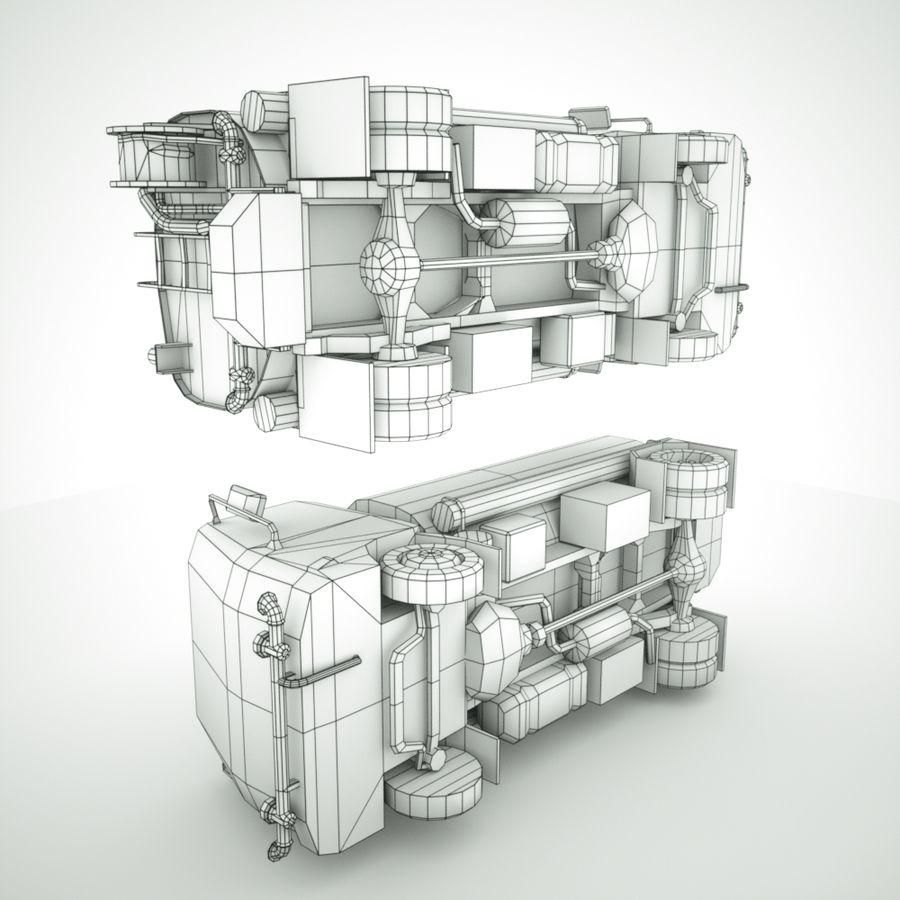 Autocisterna per acqua Nuz Isuzu royalty-free 3d model - Preview no. 11