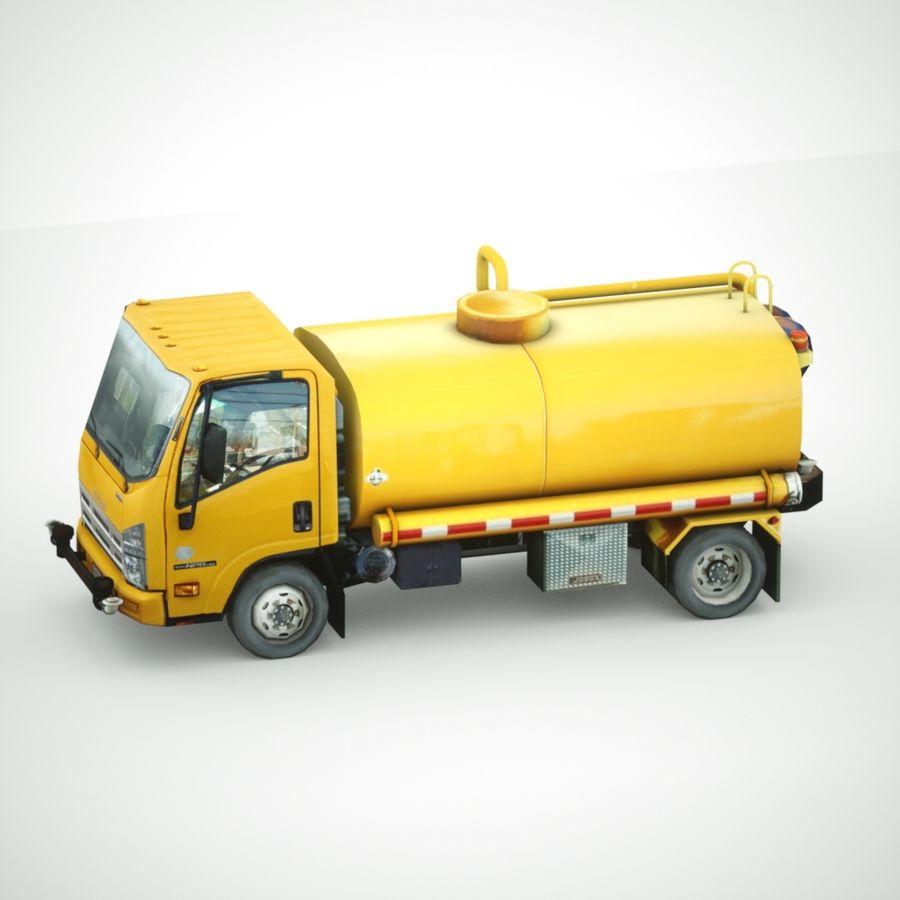 Isuzu NPR Wassertanker royalty-free 3d model - Preview no. 4