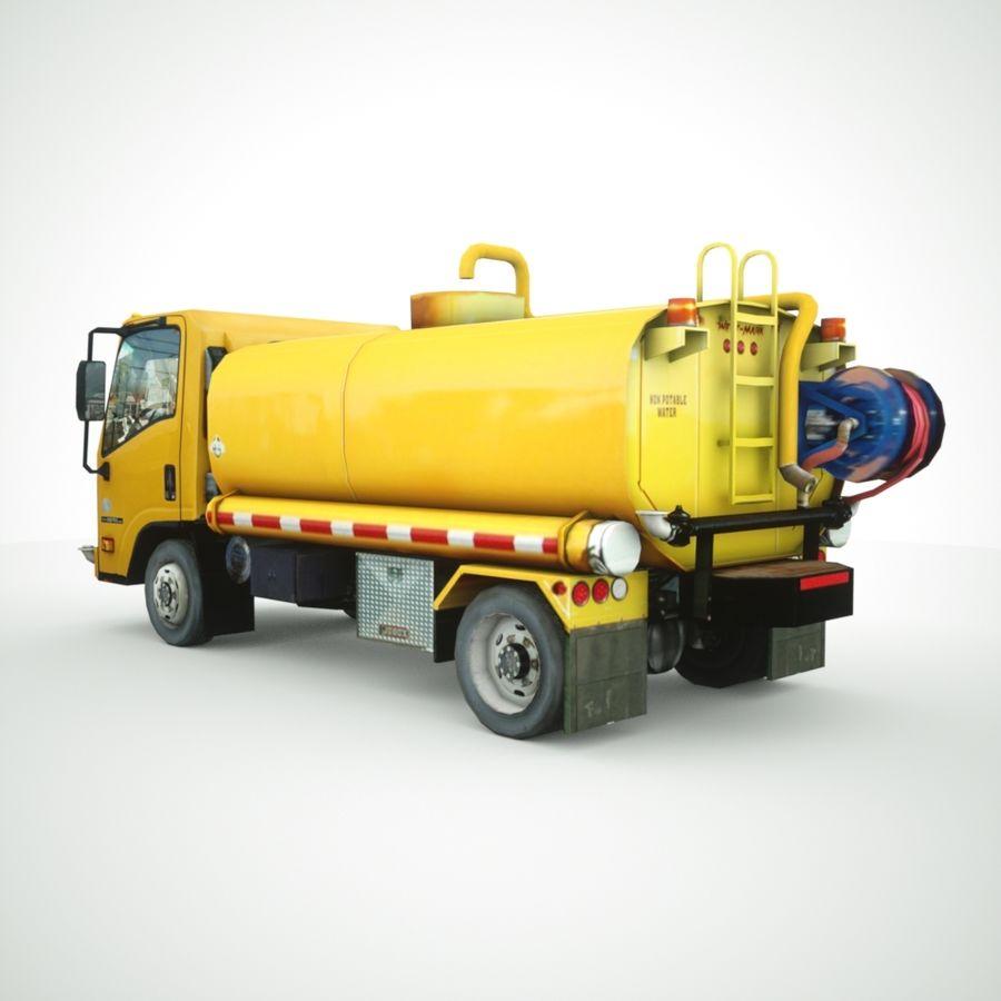 Autocisterna per acqua Nuz Isuzu royalty-free 3d model - Preview no. 1