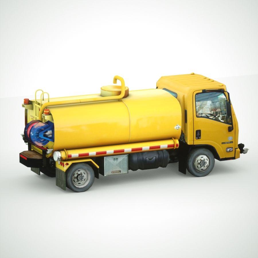 Autocisterna per acqua Nuz Isuzu royalty-free 3d model - Preview no. 5