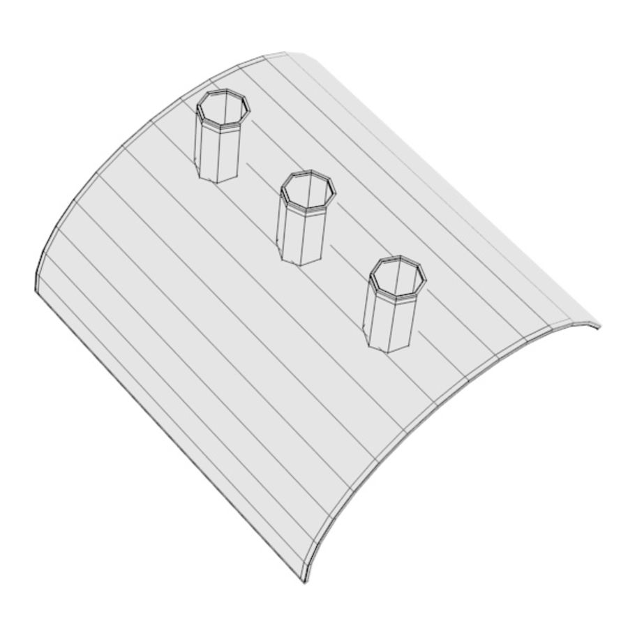 pen holder and pens royalty-free 3d model - Preview no. 9