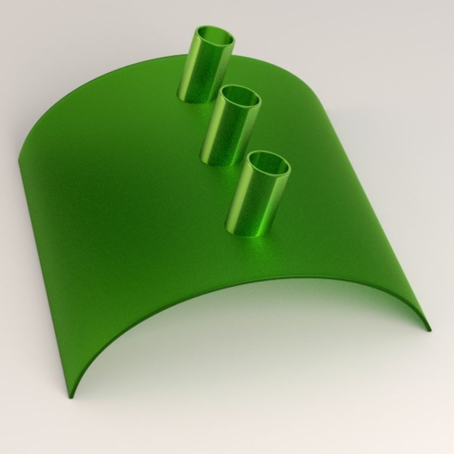 pen holder and pens royalty-free 3d model - Preview no. 6