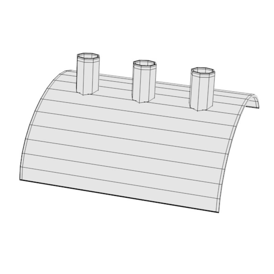 pen holder and pens royalty-free 3d model - Preview no. 8