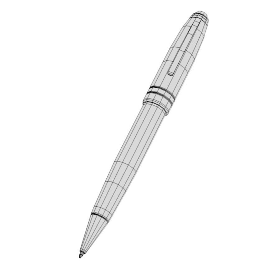 pen holder and pens royalty-free 3d model - Preview no. 10