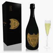 Dom Perignon Champagne Set 3d model