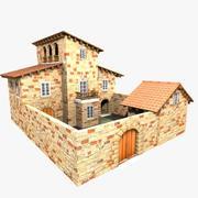 Authentic House Cottage 5 3d model
