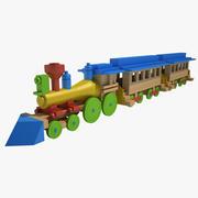 おもちゃの列車の木 3d model