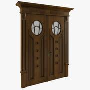 Porte en bois 3d model