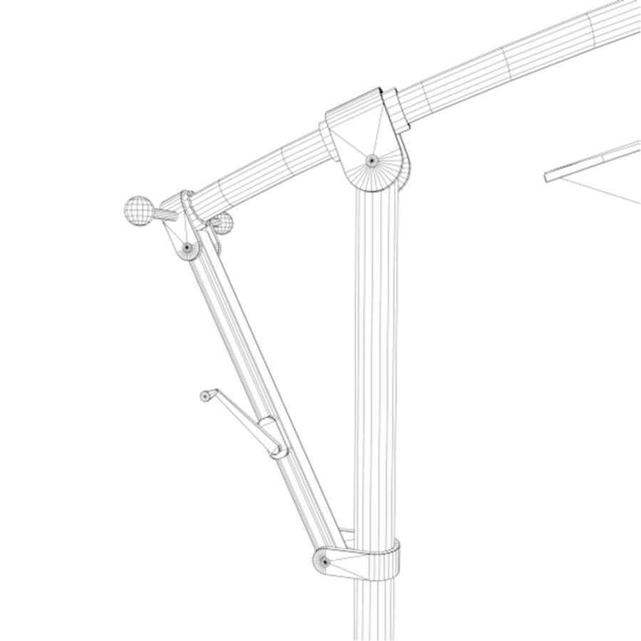 Zonnescherm 01 royalty-free 3d model - Preview no. 7