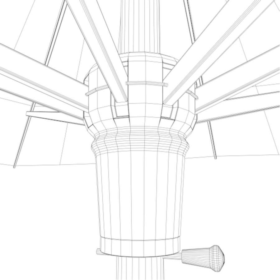 Zonnescherm 02 royalty-free 3d model - Preview no. 7