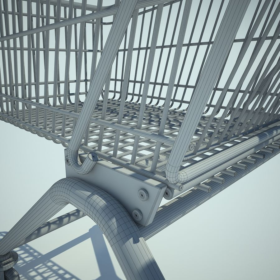 Trolley Supermarket 01 royalty-free 3d model - Preview no. 11