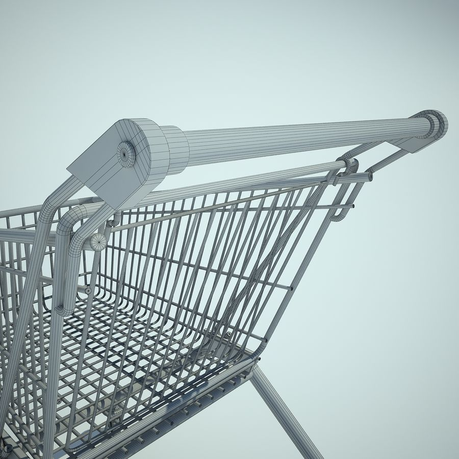 Trolley Supermarket 01 royalty-free 3d model - Preview no. 13